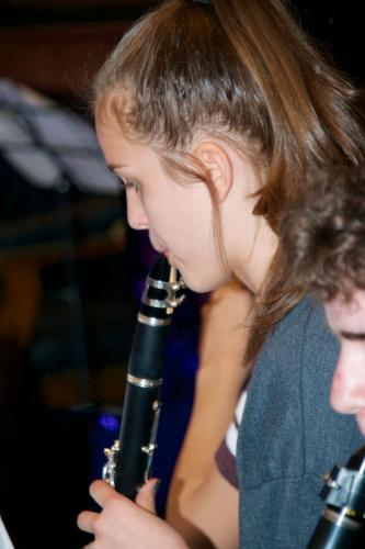 CSM student playing clarinet