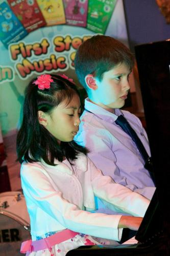 Piano Duo - boy and girl cuttie